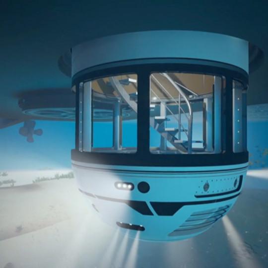 Stakleni lift koji jahtu pretvara u podvodni akvarij