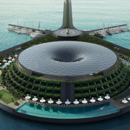 Eko-hotel u Kataru: Plutajući hotel koji se rotira kako bi proizvodio električnu energiju